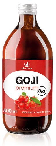 Allnature Goji - kustovnice čínská Premium BIO 500 ml nápoj