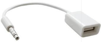 Mobilnet 3,5 mm AUX redukce na USB, bílá