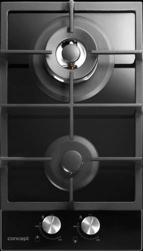 Concept PDV7230bc, černá plynová varná deska