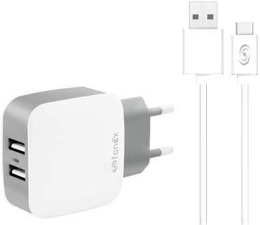 fonex-2x-usb-10-w-2-1-a-biela-1-m-usb-c-kabel
