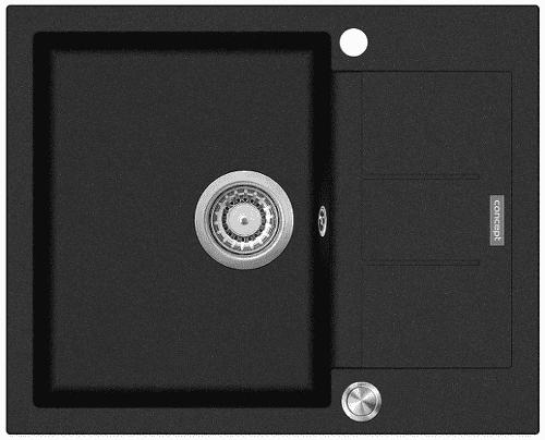 Concept DG05C45BC dřez černý