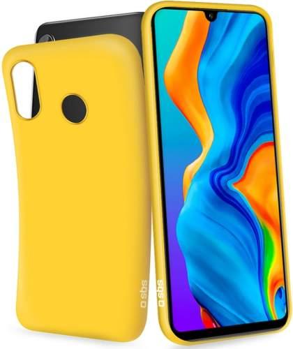 SBS Glitter gumové pouzdro pro Samsung Galaxy A20e žluté