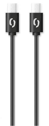Aligator dátový kábel USB-C / USB-C 1 m 3 A čierna