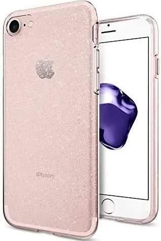 Spigen Liquid Crystal Glitter pouzdro pro Apple iPhone 7/8/SE 2020 transparentní