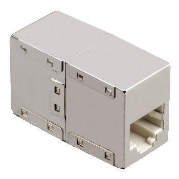 HAMA 46777 CAT 5-Adapter 2 x 8p8c(RJ 45) Socket, metal case