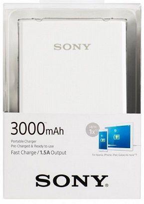 Sony CP-E3W2 powerbanka 3000 mAh, bílá