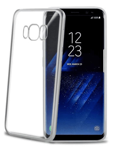 Celly Laser pouzdro pro Galaxy S8+, stříbrné
