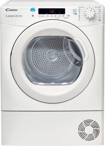 CANDY CS H7A2DE-S, bílá smart sušička prádla