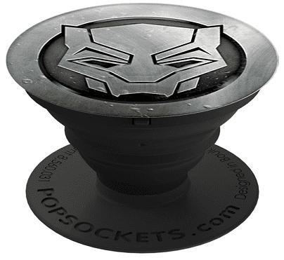 PopSockets Marvel Black Panther monochrome