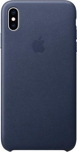 Apple kožené pouzdro pro Apple iPhone XS Max, půlnoční modrá