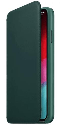 Apple kožené pouzdro Folio pro iPhone XS Max, piniově zelená