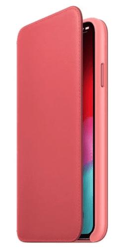 Apple kožené pouzdro Folio pro iPhone XS Max, pivoňkově růžová