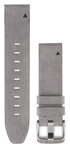 Garmin QuickFit 20 kožený řemínek, šedý
