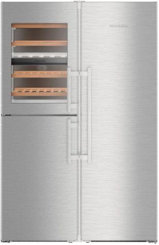 LIEBHERR SBSes 8486, nerezová americká chladnička