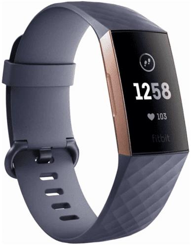 Fitbit Charge 3 růžovo-zlatý s šedým ramínkem