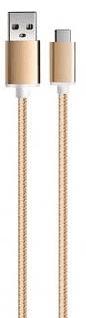 Aligator AU406 USB-C kabel 1m, zlatá