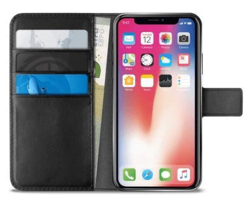 Puro Wallet knížkové pouzdro pro Apple iPhone Xs Max, černá