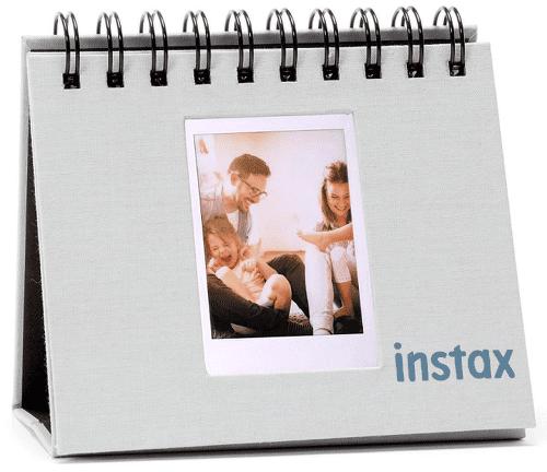 Instax Twin Mini Flip Album, kouřově bílá