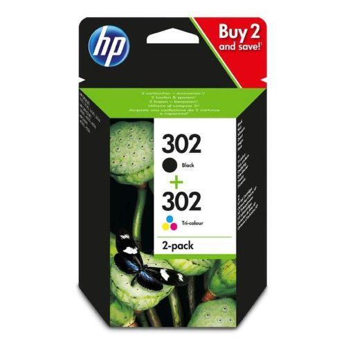 HP 302 2-pack (black + tri-color)