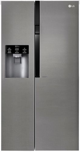 LG GSL360ICEV, tmavošedá americká chladnička