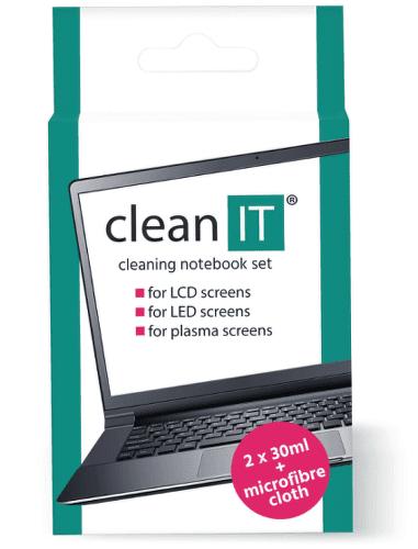 Clean IT CL-182 čisticí roztok na notebooky s utěrkou 2x30ml
