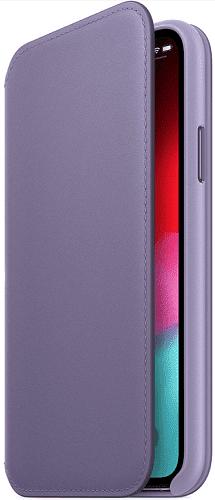 Apple kožené pouzdro Folio pro iPhone Xs Max, fialové