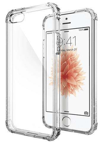 Spigen Crystal Shell pouzdro pre Apple iPhone SE, 5S a 5, transparentní