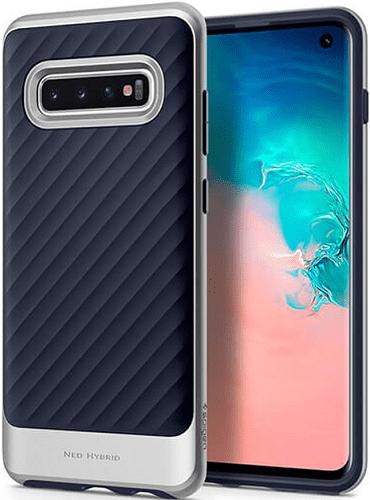 Spigen Neo Hybrid pouzdro pro Samsung Galaxy S10, stříbrná