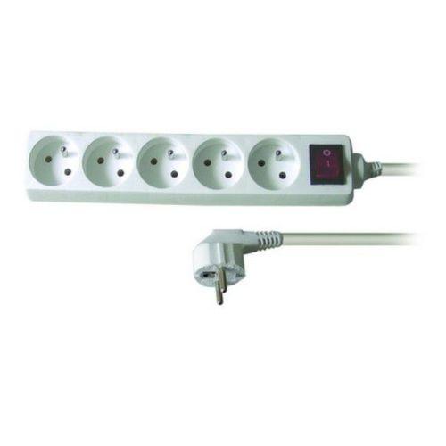 Solid PP52 - Prodlužovačka, 5 zásuvek, vypínač, 3m