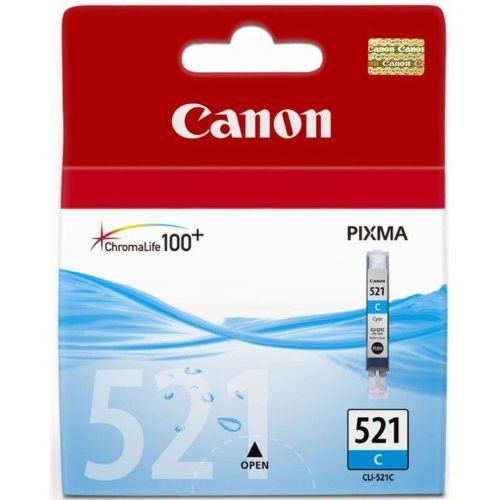 CANON CLI-521C, CYAN Ink Cartridge, BL SEC