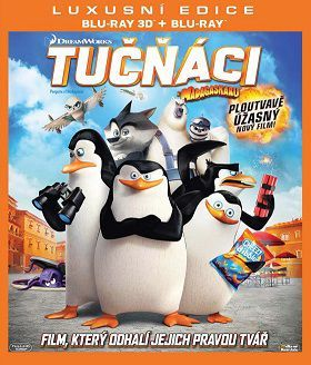 Tučňáci z Madagaskaru (DreamWorks) -3D film Blu-Ray