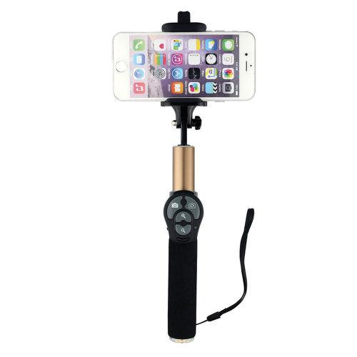 Winner selfie tyč s Bluetooth tlačítkem, černo-zlatá