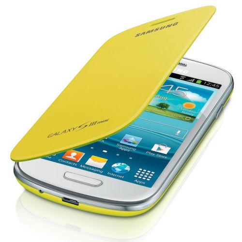 SAMSUNG flipový kryt EFC-1M7FY pre Galaxy S III mini (i8190), žltá