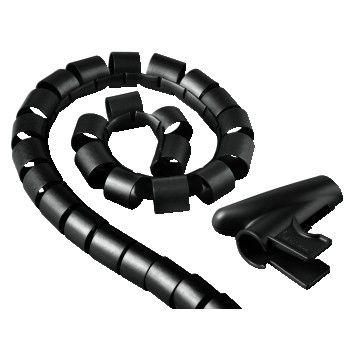 HAMA 20602 Trubica pre vedenie káblov, 2,5 m, 20 mm, čierna