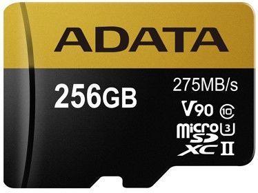 A-DATA microSDHC 256 GB 275 MBS U3 CLASS 10 UHS-II