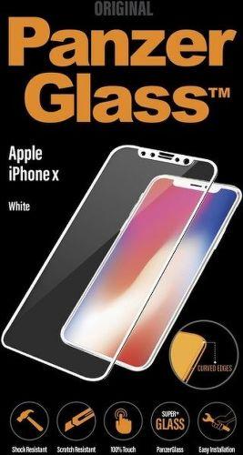 Panzerglass tvrzené sklo pro iPhone X, bílé