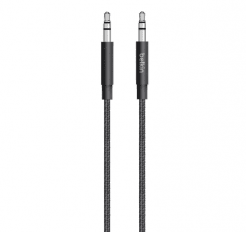 Belkin MiXiT Metallic AUX kábel 1,2m černý