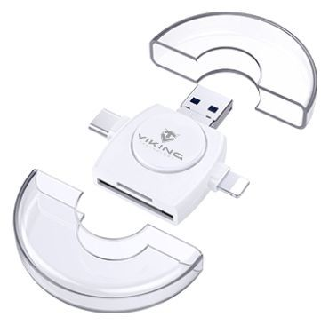 Viking 4v1 Lightning/micro USB/USB-A 3.0/USB-C bílá