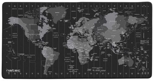 Natec Time Zone Map Maxi