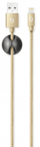 Aligator Premium Lightning kabel 2 A 1 m, zlatá