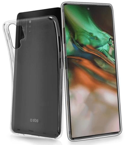 SBS Skinny silikonové pouzdro pro Samsung Galaxy Note10+, transparentní