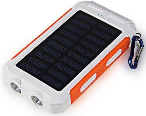 Viking Delta I solární outdoorová POWERBANK 8000 mAh, bílo-oranžová