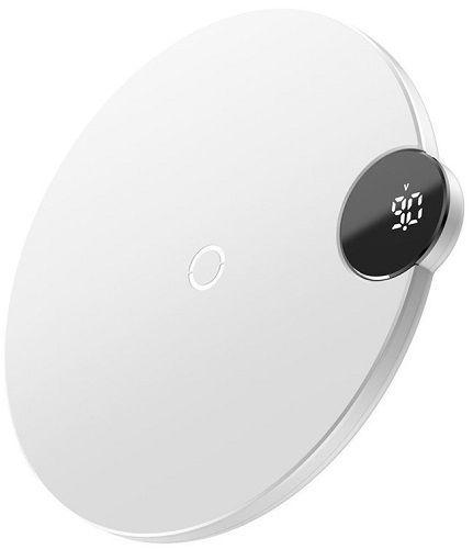 Baseus Digital LED Wireless Charge bezdrátová nabíječka 10W, bílá