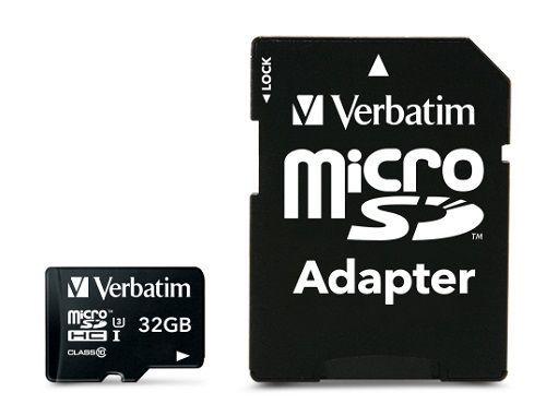 Verbatim Pro microSDHC 32GB Class 10 UHS-I + SD adaptér
