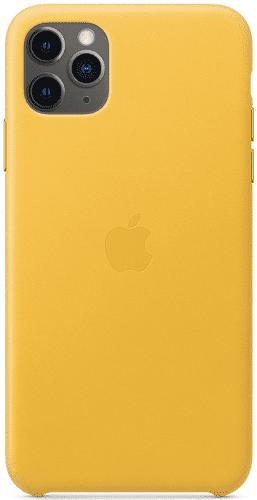 Apple kožený kryt pro iPhone 11 Pro Max, žlutý