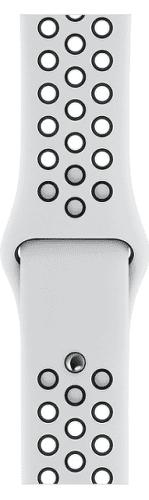 Apple Watch 40 mm Nike sportovní řemínek S/M a M/L, platinový/černý