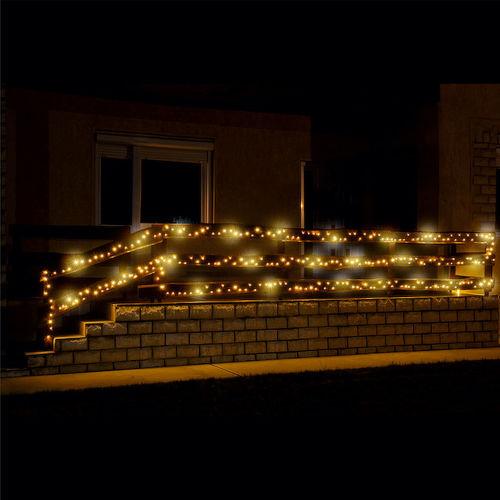 Žiariaci svetelný LED reťazec KKL 500F:WW