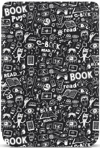 Connect IT CEB-1076-DD pouzdro pro čtečku e-knih PocketBook 616/627 doodle černé