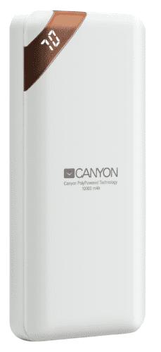 Canyon CNE-CPBP10W 10 000 mAh powerbanka, bílá