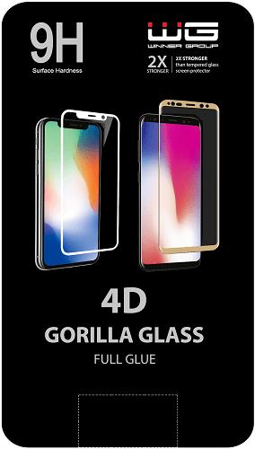 Winner 4D Full Glue tvrzené sklo pro Apple iPhone 7/8, černá